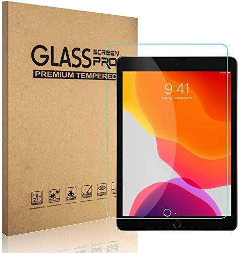 Screen Protector for iPad 8th Generation / 7th Generation 10.2 Inch [ Tempered Glass ] [ Bubble-Free ] [ Anti-Scratch ], Support Apple Pencil for New iPad 8th Gen 2020 / iPad 7th Gen 2019
