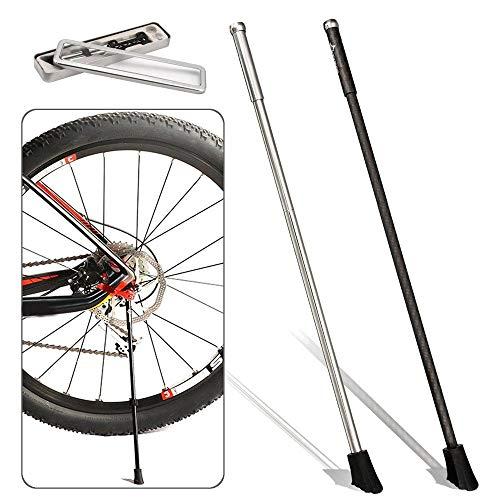 Dfghbn Bicicleta Tipo de Suelo Ciclo de la Bici Pata de Cabra Camino de la Bicicleta portátil Soporte de liberación rápida Moto Bastidores y Soportes (Color : Black, Size : 36cm)