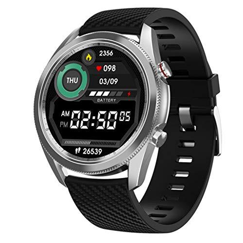 APCHY Reloj Inteligente Smartwatch,Rastreadores De Actividades De Varios Diales para Elegir Beber Agua para Recordar La Calculadora,Pulsera Inteligente De Deportes,Medición De Temperatura,C
