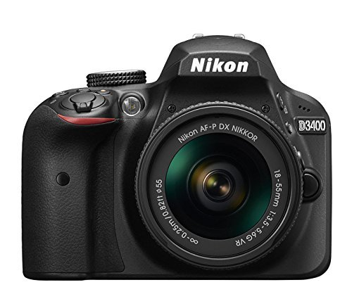 Nikon D3400 + AF-P DX NIKKOR 18-55mm VR 24.2MP CMOS 6000 x 4000Pixeles Negro - Cámara digital