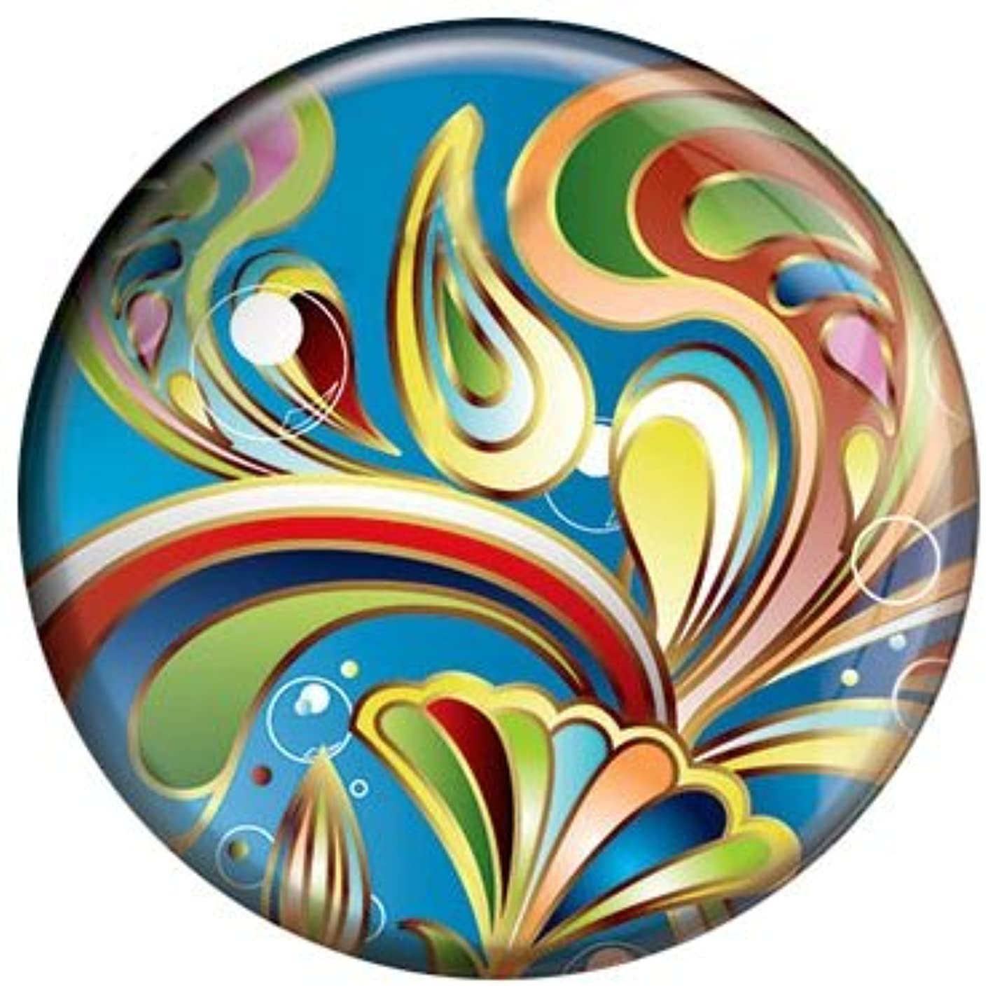 Snap Charm Colorful Painted Enamel Pattern 20mm 3/4