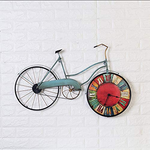 Gannon Front Retro Hierro Forjado Bicicleta Creativa Colgante De Pared Reloj De Pared Hogar Sala De Estar Decoración Decoración Bar Decoración De Pared Reloj