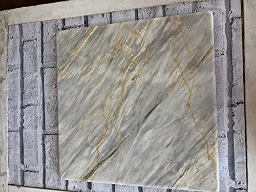 Marble Pastry Board, 38cm x 38cm, Dark or Light Colour (38cm x 38cm, Mixed...