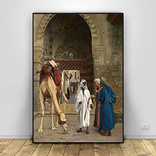 Serie de Pinturas en Lienzo más Famosa del Mundo Pintor francés Jean Leon Gerome Carteles en HD Impresiones Imagen de Arte de Pared para Sala de Estar 50x70cm (19.68x27.55 in) H-1670
