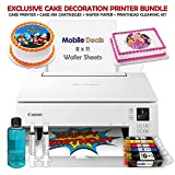 Mobile Deals Tasty Treats and Birthday Cake Topper Image Printer Bundle - Includes Canon Wireless Printer (White), Cake...