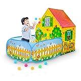Kinder Spielen Zelt, Pop-Up-Spielhaus mit Ballgrube, Indoor/Outdoor Discovery Game Zelte für...