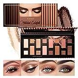 OLesley Paleta de sombras de ojos de 16 colores,Brillar Mate Paletas de maquillaje de sombra de ojos,Natural Desnudos Regalo de maquillaje de sombras de ojos, con espejo