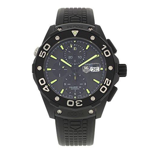 Tag Heuer Aquaracer Chronograph Automatic Black Dial Titanium Mens Watch CAJ2180.FT6023