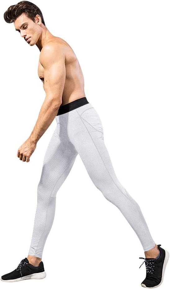 Mens Compression Pants Cool Dry Active Base Layer Fitness Underwear Tights Workout Running Leggings