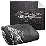 Ford Mustang Blanket, 50'x60', Mustang Logo Silky Touch Sherpa Back Super Soft Throw Blanket