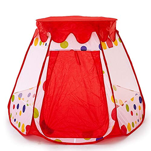 EVFIT Kids Play Tent Dreamy Princess Play Tent Playhouse For Children&Toddler To Crawl Birthday Gift Play Tent For Boys Girls (Color : Red, Size : 110x110x90cm)