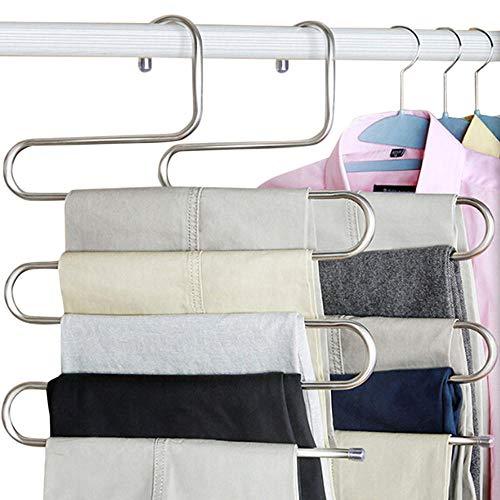 Zhaoyangeng 1 stuks nieuwe roestvrijstalen rekken S-vorm broeken kledinghangers wasgoed opslag organisatie huishoudelijke accessoires levert producten