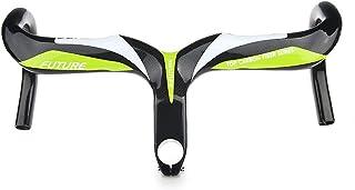 0b2cdab48 Full handbar de fibra de carbono 3 K brillante bicicleta de carretera  bicicleta manillar integrado