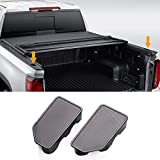 Moonlinks Bed Rail Stake Pocket Cover Compatible with 2014-2018 GMC Sierra 1500 and Chevrolet Silverado 1500/2500/2500HD/3500(Set of 2)