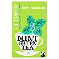 [Clipper ] パックあたりペパーミントティーバッグ26とクリッパーフェアトレードグリーン - Clipper Fairtrade Green with Peppermint Tea Bags 26 per pack [並行輸入品]