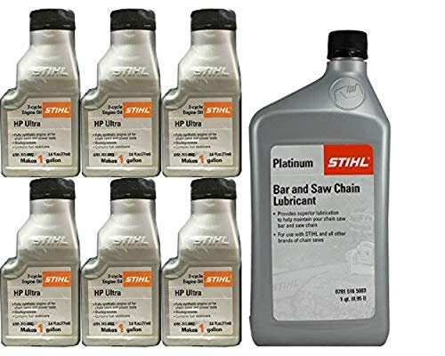 Stihl 0781-516-5003 Platinum Bar And Chain Oil And 0781-313-8002 HP Oil Kit