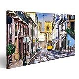 Bild Bilder auf Leinwand Lissabon, porgugales Stadtbild und