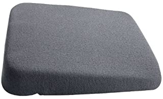 Grey 15-Inch Wide Mc Cartys Sacro-Ease Lumbar Seat Support with Coccyx Tailbone Cutout and Extra Padding