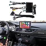 Road Top Wireless Carplay Retrofit Kit decodificador para Audi A6 S6 2012-2018 año con sistema MMI 3G, compatible con Android Auto, Mirrorlink, funciones de cámara de marcha atrás
