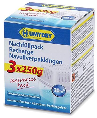 Preisvergleich Produktbild Luft- und Raumentfeuchter HUMYDRY® Compact Nachfüllpackung 3x250g