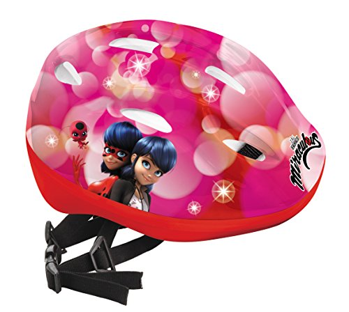 Lady Bug Miraculous MD-28291 Casco Protección, Niños, Multicolor, Talla Ajustable