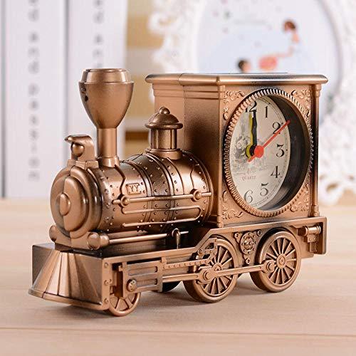 FPRW Antieke retro nostalgische train wekker, stijlvolle persoonlijkheid plastic model student wekker, rood koper