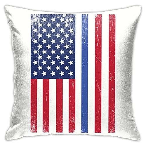 Funda de cojín con diseño de bandera de Estados Unidos