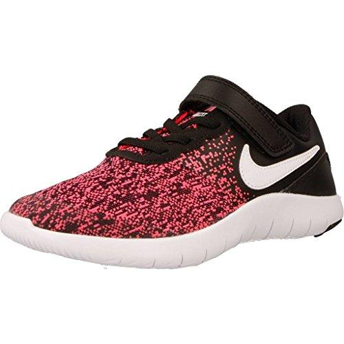 Nike Kids Flex Contact (PSV) Black White Racer Pink Size 11.5