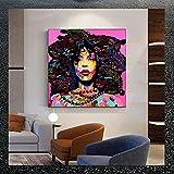 Graffiti Salon de Decoracion Colorido Arte Abstracto Retrato Mujer Potencia Cuadro Moderno Figura Figura Salon Recamara Poster Feminista Poster Feminista I14119