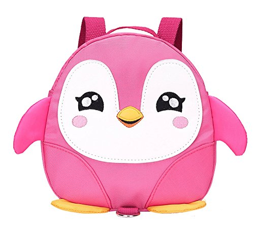 Fanci Cute Penguin Pattern Baby Walking Safety Harness Backpack Ultralight Anti-lost Toddler School Bag With Safety Leash