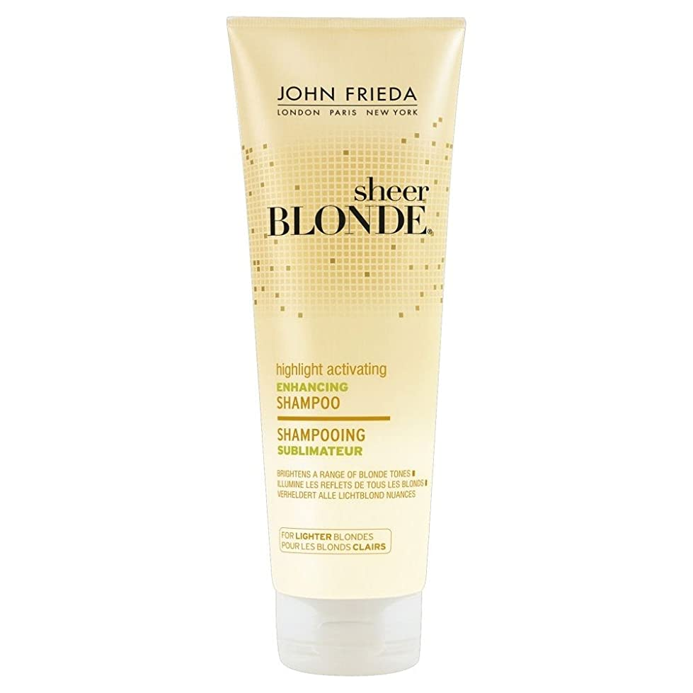 ソフトウェア洗剤面白いJohn Frieda Sheer Blonde Enhancing Shampoo for Lighter Blondes (250ml) ジョン?フリーダ軽いブロンドのための膨大なブロンド増強シャンプー( 250ミリリットル) [並行輸入品]