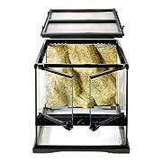 Le terrarium en verre Exo Terra, conçu par des herpétologistes européens, est l'habitat idéal pour les reptiles et les amphibiens Les portes avant facilitent l'entretien et le nourrissage