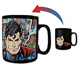 Morphing Mugs Superman – Papercut – DC Comics Heat Sensitive Clue Mug – Full Image Revealed When HOT Liquid is Added - 16oz Large Drinkware