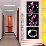 Relojes de pared de Pintura sin Marco 3 Cuadros de Relojes y