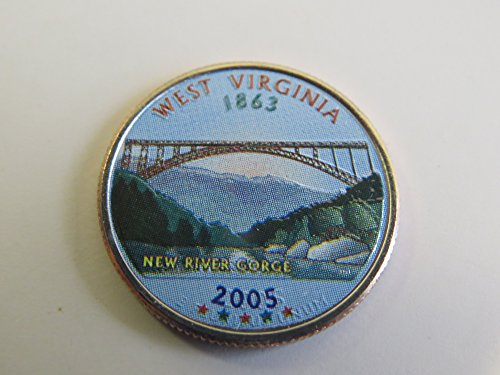 2005 Various Mint Marks West Virginia State Colorized Quarter Choice Uncirculated