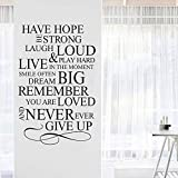 N/F Wall Decals Quotes,Word Wall Sticker Quotes,Motivational Wall Decal,Family Inspirational Wall Art Sticker Vinyl Wall Mural Paint Decor for Kids Nursery Bedroom Living Room