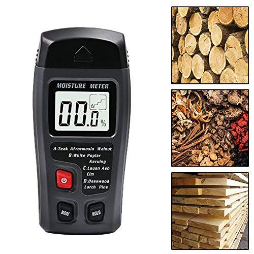 Rilevatore di umidità per legno portatile Misuratore di umidità digitale per tronchi di registro LCD per la misurazione dell\'umidità della legna da ardere