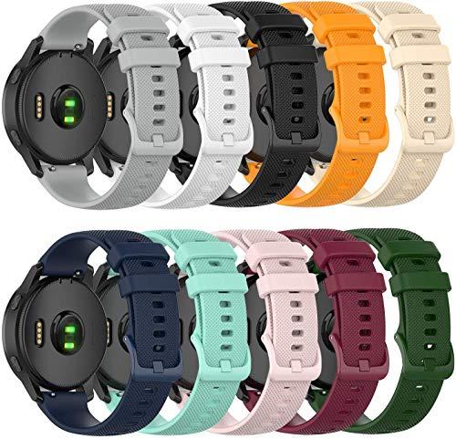 Tyogeephy Compatible con Garmin Vivoactive 4 Bands Pulsera Deportiva con Correa de Silicona para Vivoactive 4 Watch Band (Not for 4S)