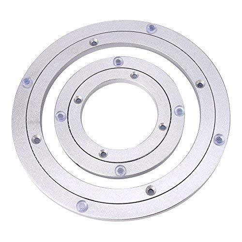 Placa Giratoria Giro Turntable Placa Giratorio Plataforma de aluminio para mesa de comedor(10Inch)
