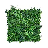 Pflanzen Wand: 1m² Pflanzenwand Matten (Maße individuell) – Vertikaler Garten mit künstlichen Pflanzen als Wandbegrünung, Sichtschutz am Zaun oder Balkon, Pflanzenbild (1m²)