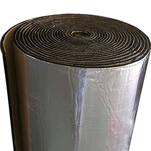 Teepao Schalldämmende Matte, Fiberglas-Stoff-Auto-Schalldämmungs-Schaum-Rolle für Motor/Dach/Fenster, 5MM Automobilschalldämmungs-Schaum-Platten, feuchtigkeitsfest, feuerfest