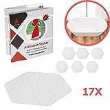 Lieburg Anti-Rutsch Aufkleber für Badewannen & Duschen - 17x Sticker - 10,5 cm extra Groß - selbstklebend & transparent - Antirutsch Badewanne und Dusche - rutschfeste Pads