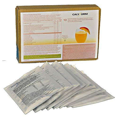 CALYFORM Batidos Proteínas para dieta sabor Melocotón y Mango   Bebida proteica en polvo saciante   Proteína dietética de calidad y aporte en aminoácidos esenciales (10 Sobres)