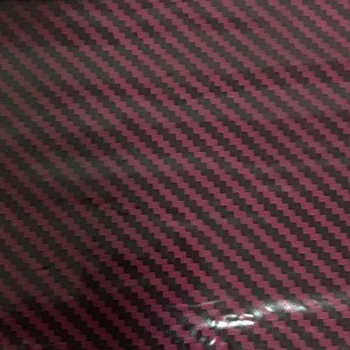 Hydrographics Film Water Transfer Printing Film Hydro Dipping Dip Film Hydrographic Film Hydro Dip Dark Red Carbon Fiber Film (Square Meter (19' X 78'))