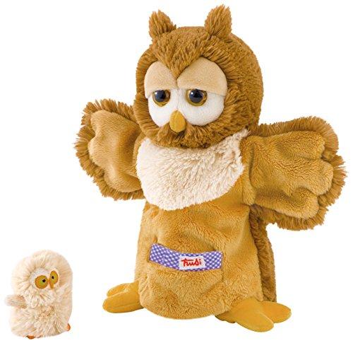 Trudi - Marioneta de Peluche búho con bebé 29995