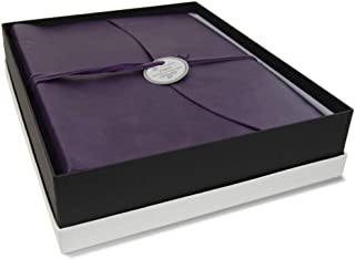 LEATHERKIND Capri Leather Photo Album, Large Aubergine - Handmade in Italy