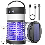 Bug Zapper, Fruit Fly Gnat Mosquito Killer 3500V Solar & USB Powered Rechargeable Mosquito Zapper for Indoor Outdoor Backyard, Patio, Home, Camping, Travel, Portable Waterproof IP66 Insect Pest Trap
