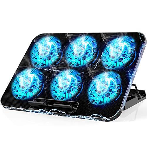 SEASKY Enfriador para Laptop de Juegos,Base De Refrigeración para Ordenador Portatil,Ventilador Laptop Seis Ventiladores Silenciosos y...