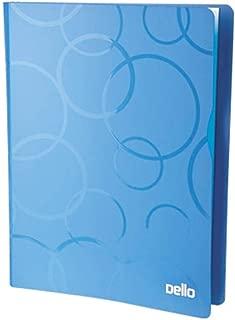 Pasta Catalogo A4 Pp Top Line Azul C/30 Plasticos, Dello, 6050.C.0020, Azul