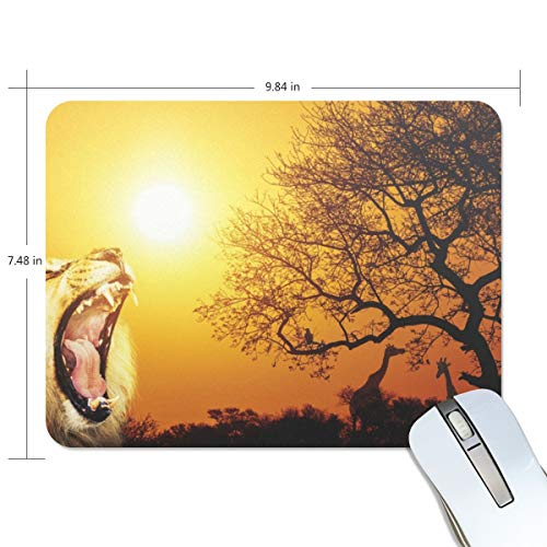 playroom Game Mouse pad Design Lion Sunset Extended Ergonomic for Computers Mouse mat Custom-Made